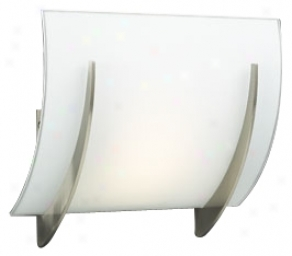 "Opal Glass Curve 8 1/2"" High Ada Wall Sconce (h4066)"