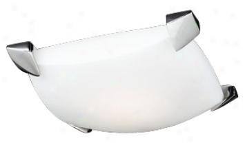 "Opal Glass Panel 11"" Wide Ceiling Light Fixture (h3971)"