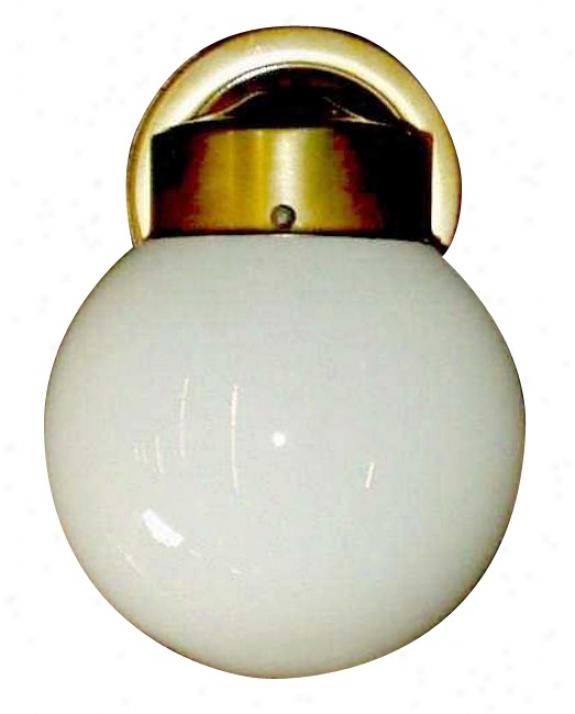 """Opal Globe 8"""" High Outdoor Wall Light (05265)"""