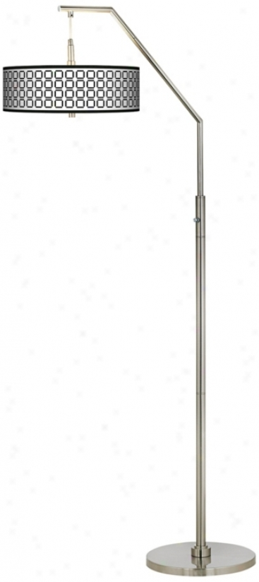 Open Grid Giclee Shelter Arc Floor Lamp (h5361-p2532)