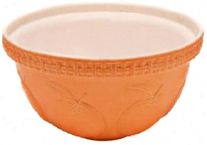 Orange Fruit 5 1/4 Quart Mason Cash Mixing Biwl (v9356)