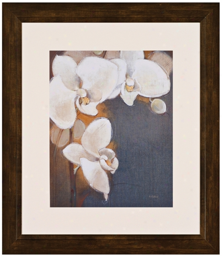 "Orchid Blanc 31"" High Wall Art (j5933)"