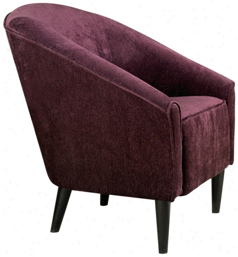 Orion Eggplant Chenille Club Chair (t3815)