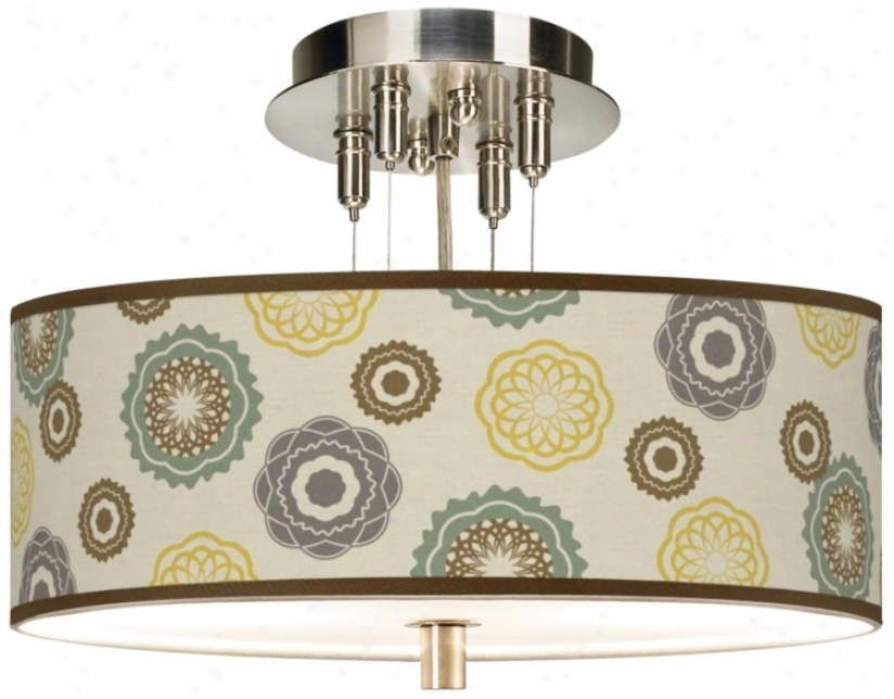 "Ornametns Linen 14"" Wide Giclee Ceiling Light (55369-t6539)"