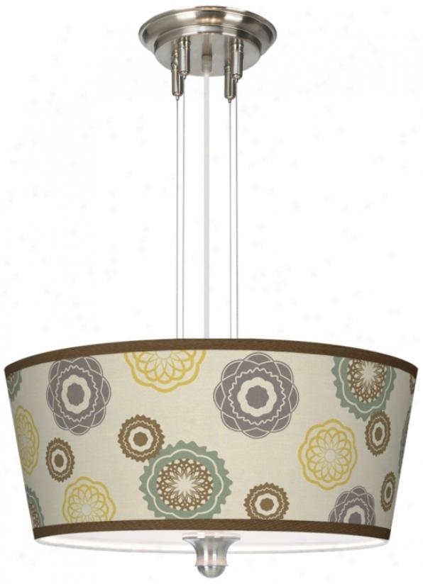 """Ornaments Linen Gcilee 18"""" Wide Pendant Chandelier (m2296-t6569)"""