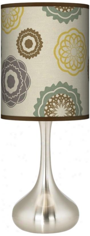 Ornaments Linen Giclee Kiss Table Lamp (k3334-t6599)