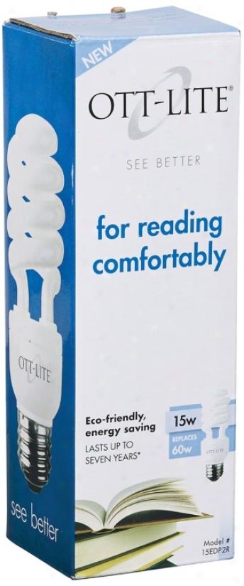 Ott-lite 15 Watt Reading Cfl Light Bulb (14671)