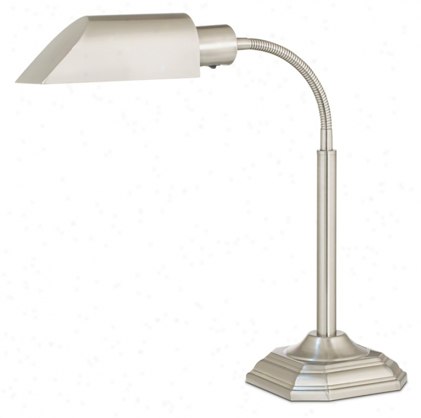 Ott-lite Alexander Nickel Spirit Saving Goosenecm Desk Lamp (74835)