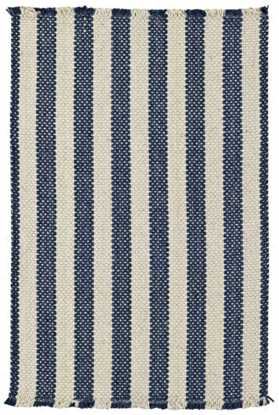 Outer Banks Blue Stripes Clolection 5'x8' Area Rug (w2999)