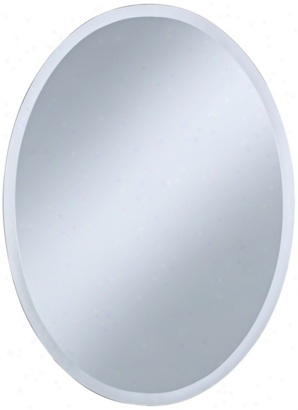 "Oval Regency 30"" High Beveled Wall Reflector (p1383)"