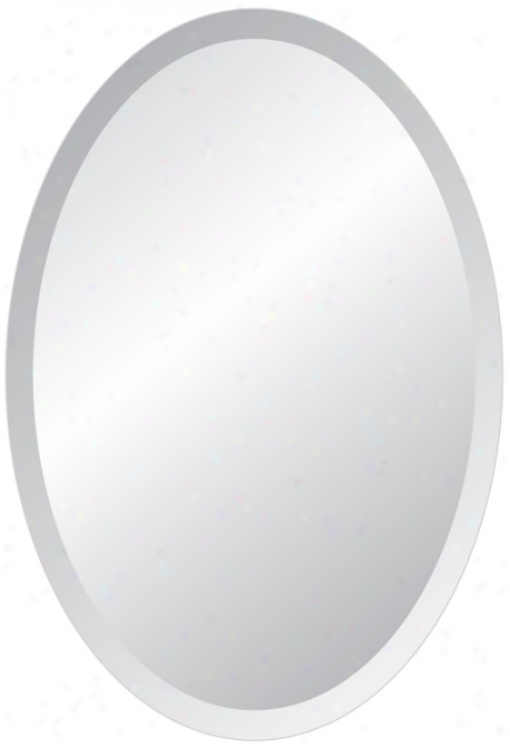 "Oval Regency 48"" High Beveled Mirror (p1386)"