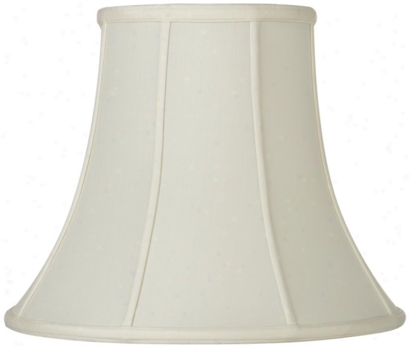 Oyster Silk Bell Lamp Shade 10x20x15 (spider) (u1789)