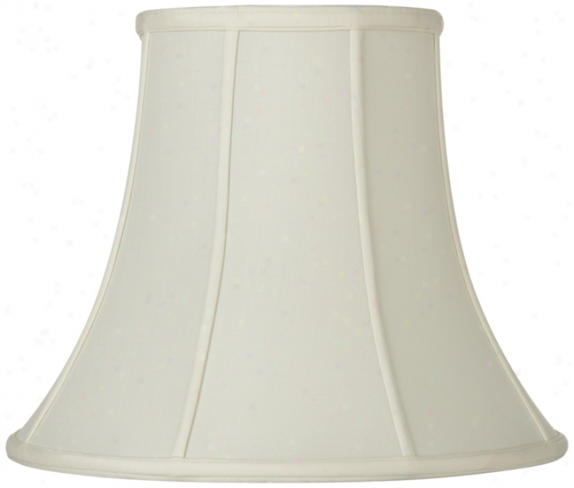 Oyster Silk Bell Lamp Shade 6.5x12x9.25 (spider) (u1777)