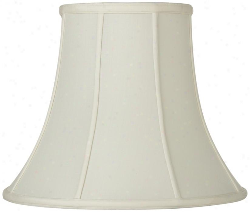 Oyster Silk Bell Lamp Shade 6.5x12x9.25 (spider) (u1777)