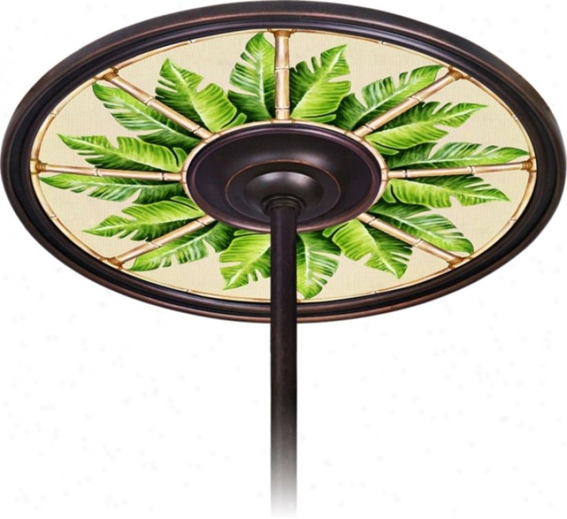 "Pacific Palm 6 1/2"" Opening Bronze Ceiling Fan Medallion (h3293-h3653)"