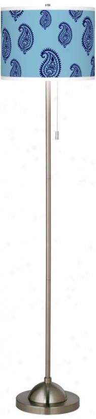 Paisley Rain Giclee Contemporary Floor Lamp (99185-t5853)
