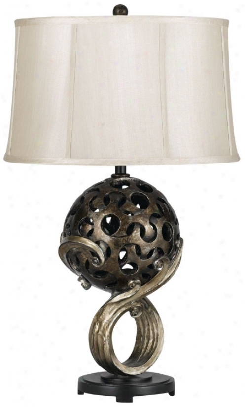 Palatka Resin Table Lamp (n4509)