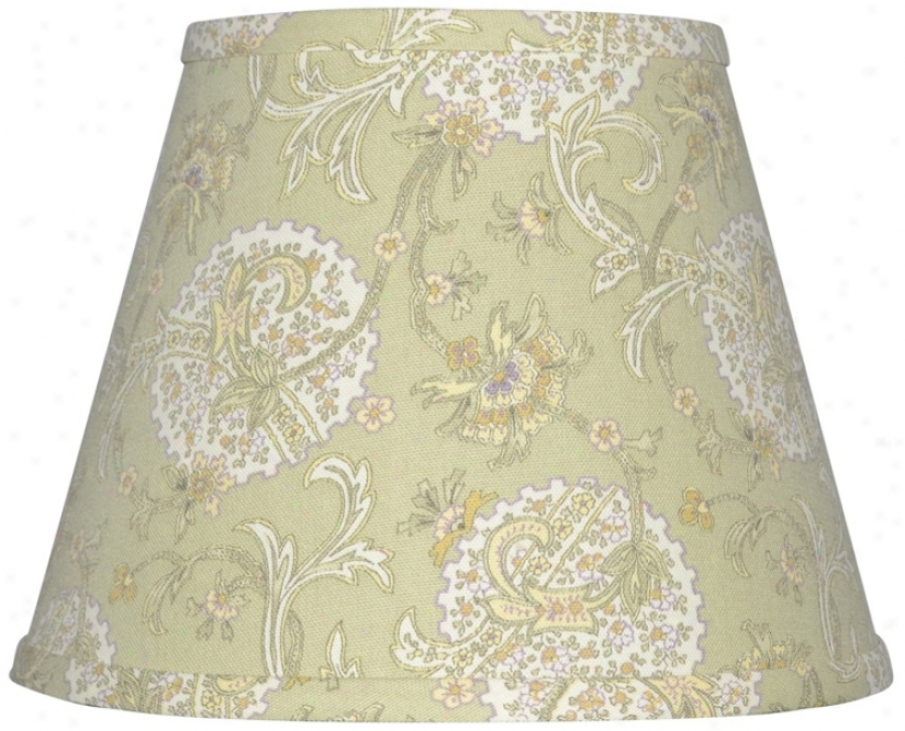 Pale Green Jacobean Lamp Shade 8x14x10.25 (spide)r (w0250)