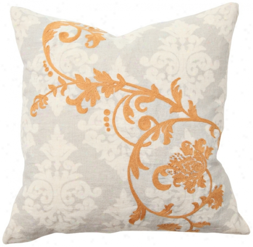 Palisades Embroidered Throw Pillow (r7922)