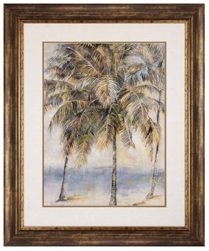 "Palm Hammock Ii 35"" High Frame Wall Art (p2295)"