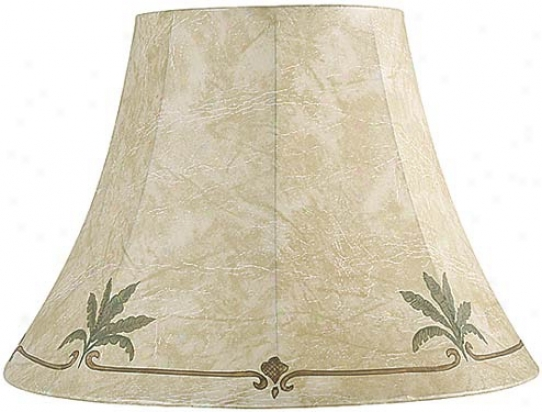 Palm Leaf Faux Leather Lamp Shade 9x18x13 (spider) (65491)
