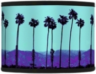 Palm Tree Obscurity Giclee Shade 13.5x13.5x10 (spider) (37869-h1443)