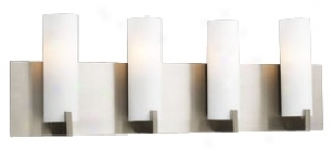 "Palos Opal Glass 24"" Wide Ada Bathroom Light Fixture (h4253)"