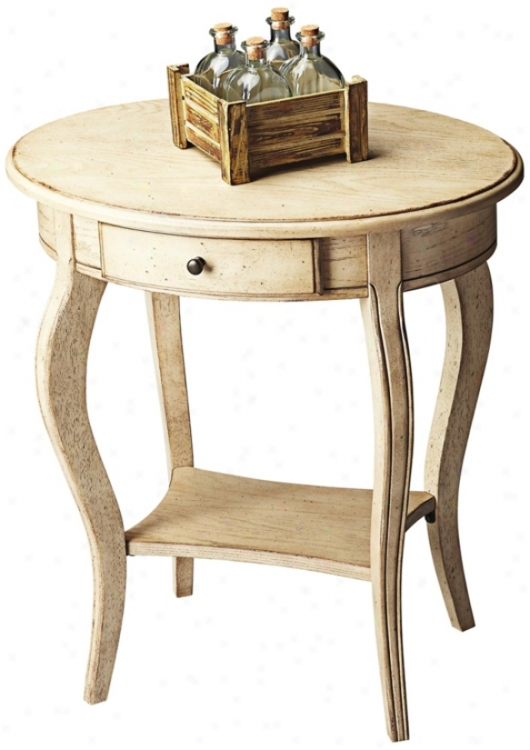 Paraffin Oval Accent Table (u4429)