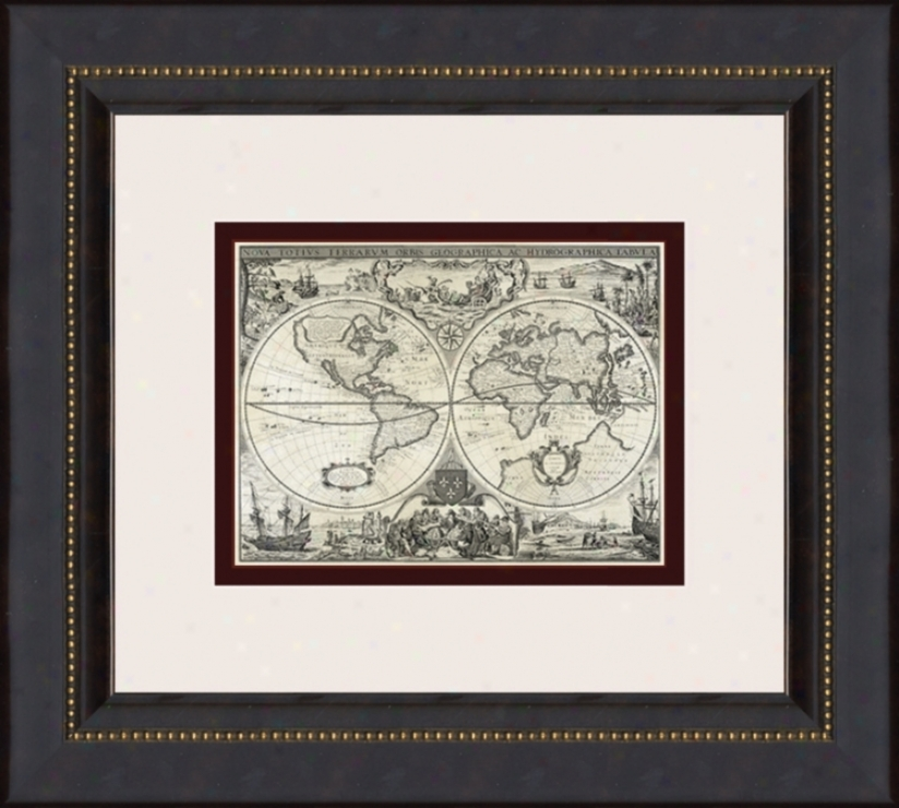 "Parchment Maps-mini B 16"" High Wall Art (03099)"