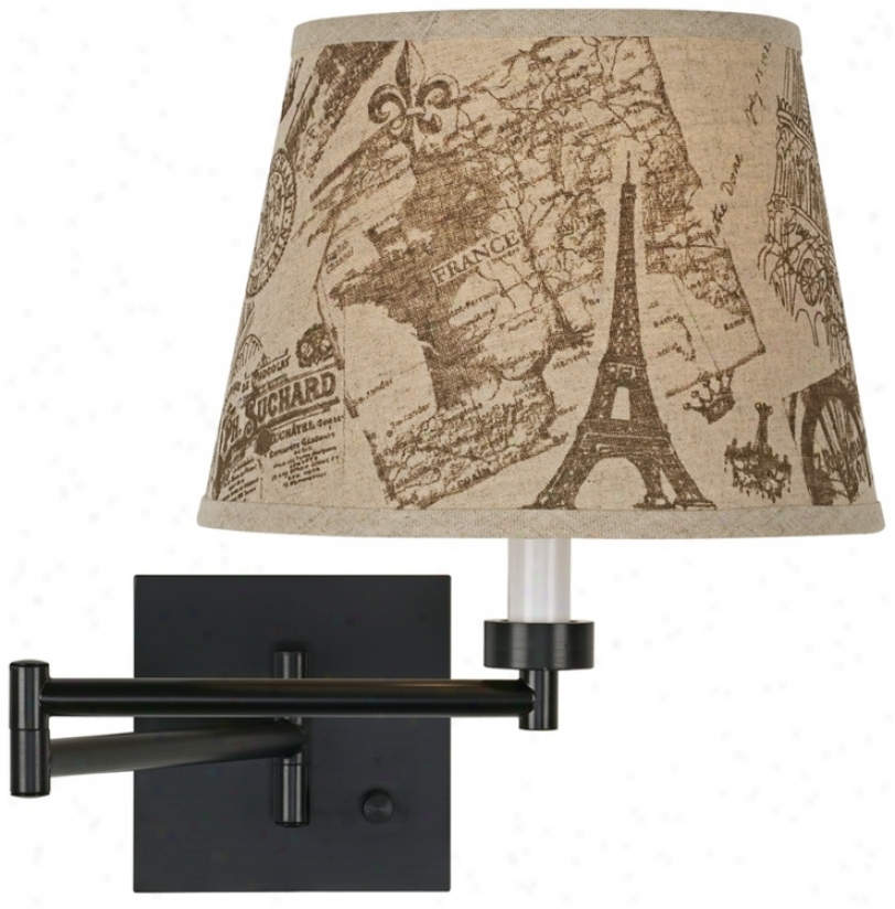 Paris Impressions Espresso Bronze Plug-in Swing Arm Wall Lamp (79412-r5815)