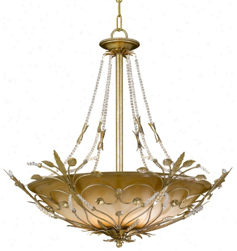 Parisian Collection Six Light Crystal Pendant Chandelier (85284)