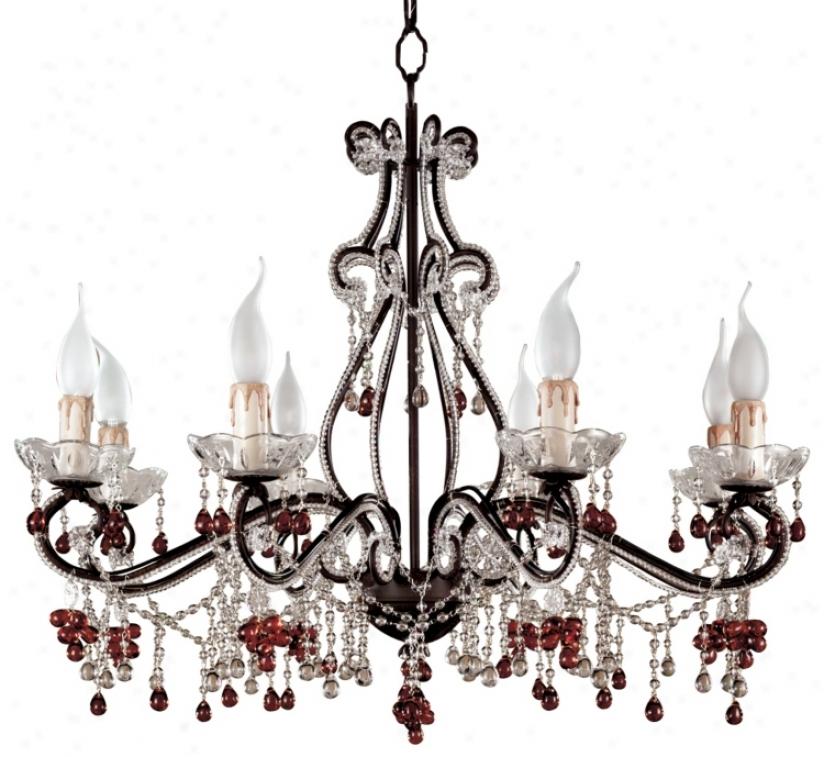 Parisian Eight Light Amber Chandelier (64883)
