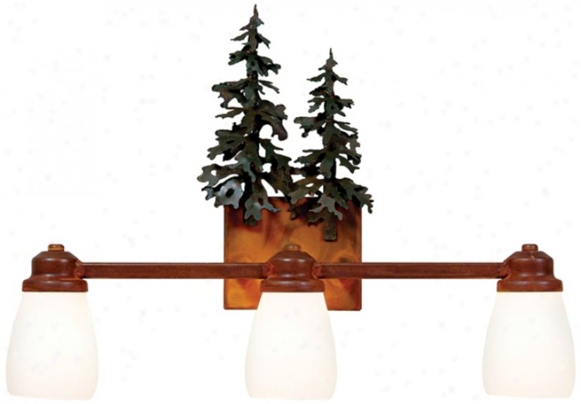 "Parkshire Collection 3d Cedar 22"" Wide Bathroom Lighf (j0556)"