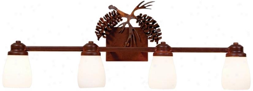 "Parkshire Collection 3d Cone 30"" Wide Bathroom Light Fixture (j0558)"