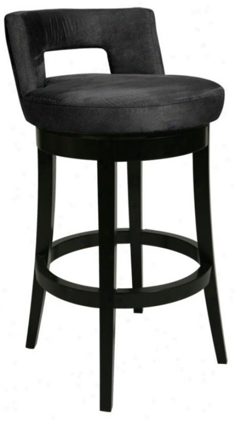 """Pastel Eureka Black 30"""" High Swivel Bar Discharge (p6435)"""