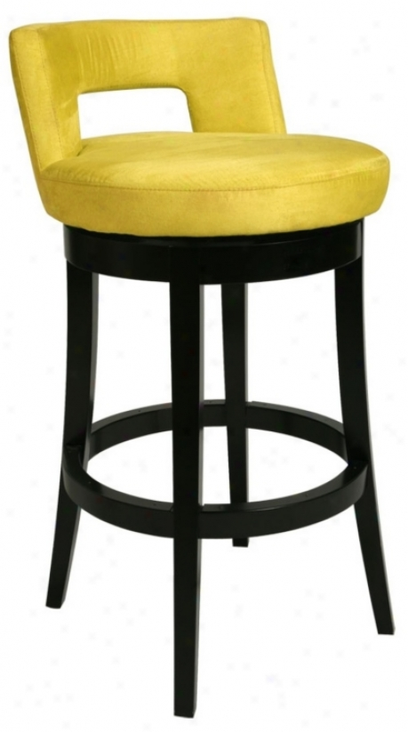 "Pastel Eureka Yellow 30"" High Swivel Bar Stool (p6438)"