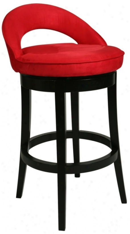 "Pastel Urbana Red wSivel 26"" Acute Counter Stool (p6467)"