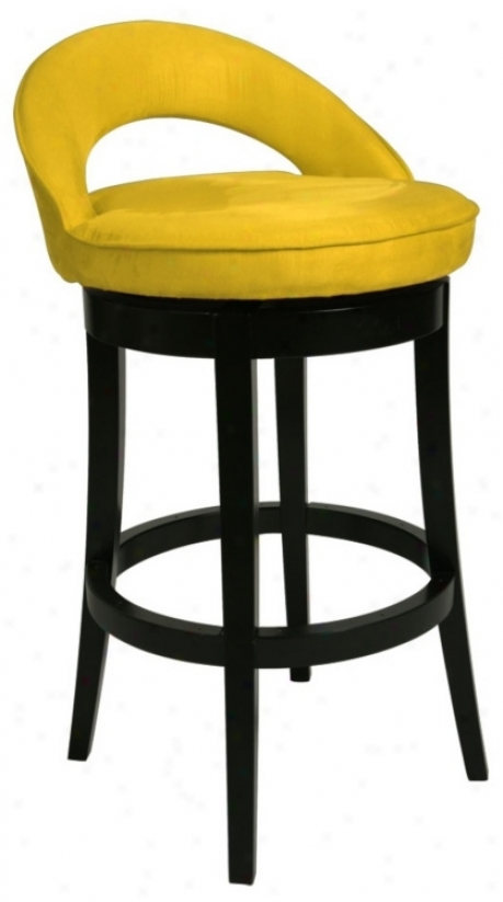 "Pastel Urbana Yello wSwivel 30"" High Bar Stool (p6470)"