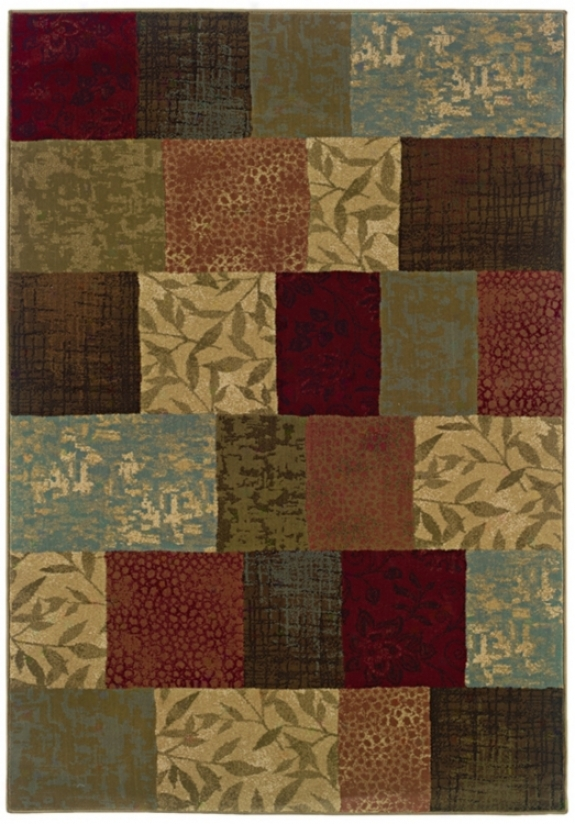"Patchwork 3' 10""x5' 5"" Area Rug (j1877)"