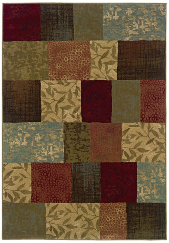 "Patchwork 6' 7""x9' 6"" Area Rug (j1880)"