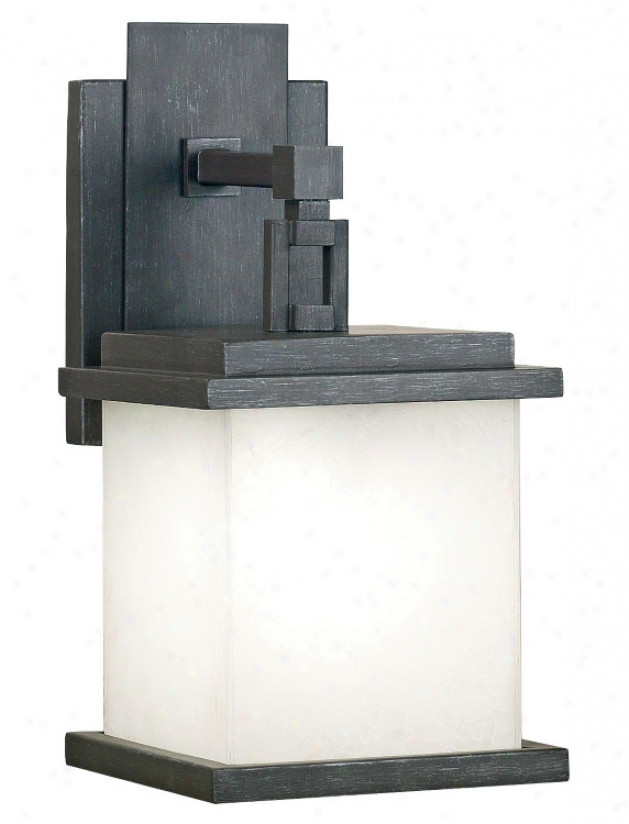 "Peak Collection Pewter 14"" Outdoor Wall Light (12746)"