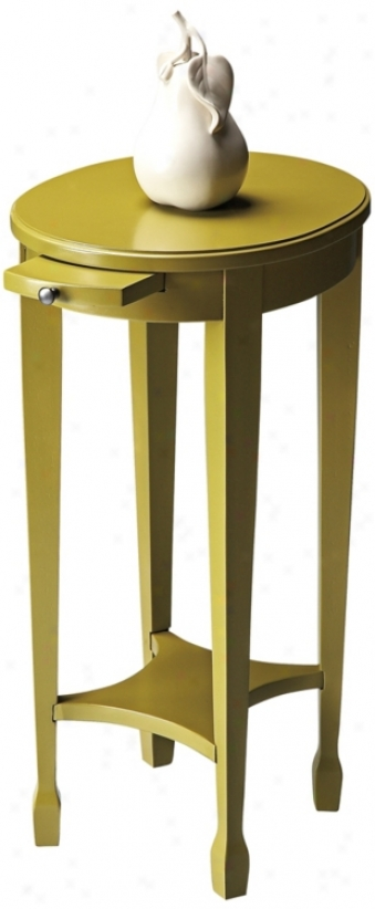 Pear Green Pull Tray Accent Table (u4815)