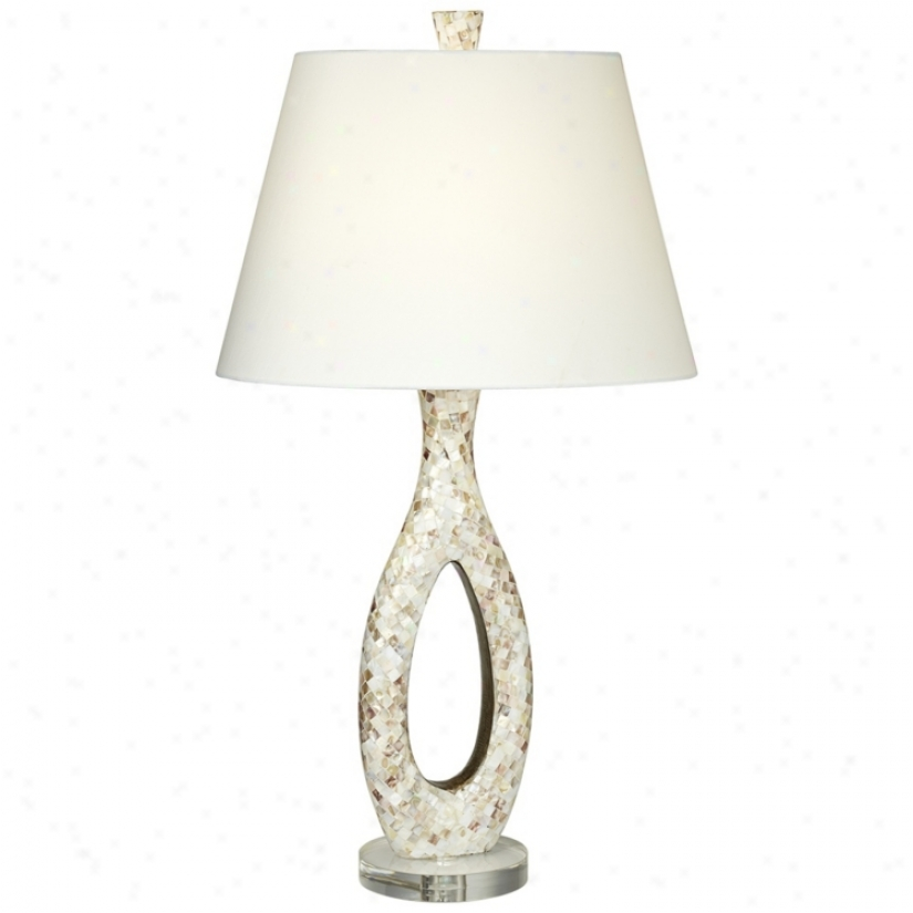 Pearlesque Mother Of Pearl Table Lamp (v2244)