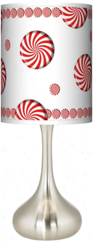Peppermint Pinwheels Giclee Salute Table Lamp (k3334-t6598)