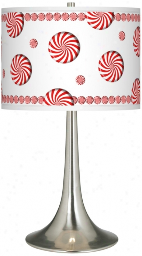 Peppermint Pinwheels Giclee Trumpet Table Lamp (r1676-t6612)
