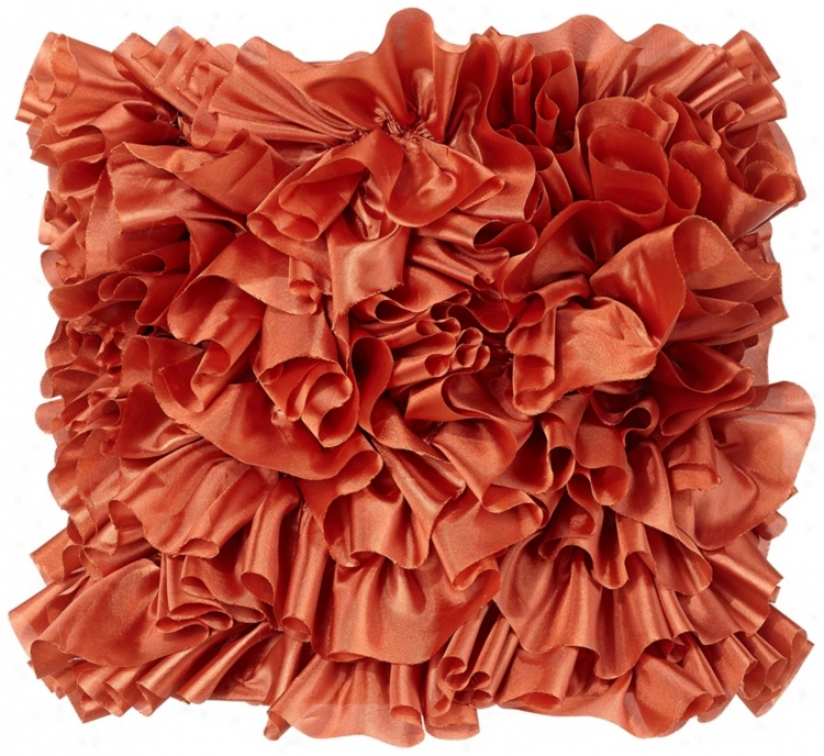Persimmon Ruffled Drum Shade 8x9x9 (spider) (v3713)