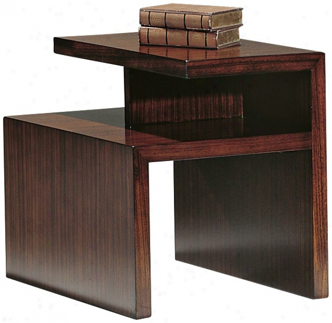 Perspective Warm Honey Finish End Table (p1897)