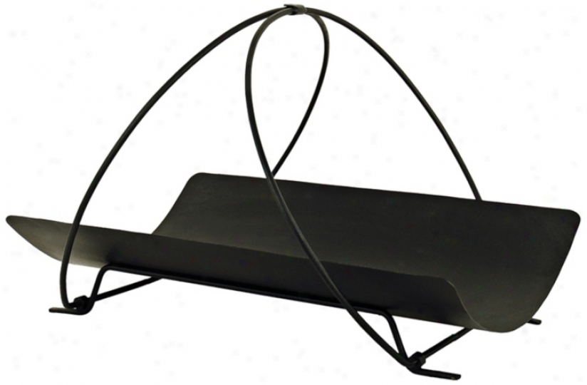 "Petite Panier 20"" Wide Black Firewood Holde r(u9414)"