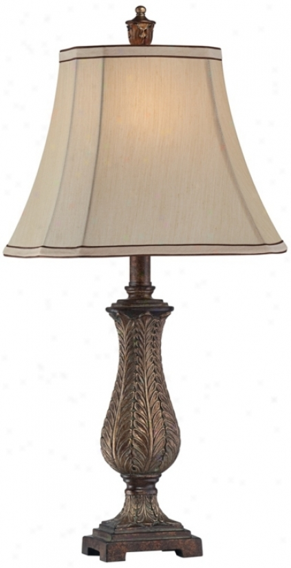 "Petite Vase Rectangle Shade 25"" High Table Lamp (t8534)"