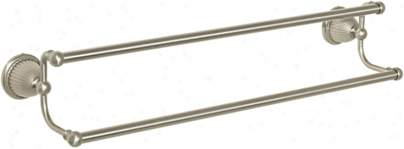 "Pewter Beaded Bell 24"" Double Towel Bar (57262)"